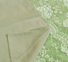 Load image into Gallery viewer, Sanskriti New Dupatta Pure Crepe Silk Net Long Stole Green Woven Scarves