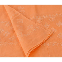 Load image into Gallery viewer, Vintage Dupatta Long Stole Cotton Peach Hand Embroidered Chikankari Wrap Veil