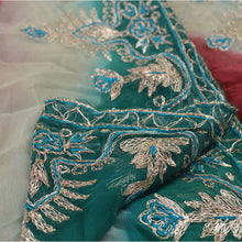 Load image into Gallery viewer, Vintage Dupatta Schal Long Stola Georgette Multi Color Hand Embroidered Scarves
