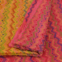 Load image into Gallery viewer, Vintage Dupatta Schal Long Stola Georgette Hand Embroidered Kantha Wrap Veil