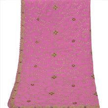 Load image into Gallery viewer, Sanskriti Vintage Dupatta Long Stole Georgette Pink Wrap Veil Hand Beaded