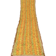Load image into Gallery viewer, Vintage Dupatta Long Stole Cotton Yellow Hijab Embroidered Painted Wrap Shawl