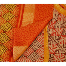 Load image into Gallery viewer, Sansriti Dupatta Vintage Long Stole 100% Pure Georgette Silk Orange Printed Veil
