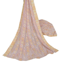 Load image into Gallery viewer, Vintage Dupatta Long Stole Georgette Pink Hijab Embroidered Wrap Scarves