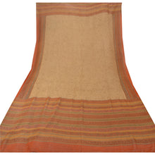 Load image into Gallery viewer, Vintage Dupatta Long Stole Georgette Orange Veil Printed Wrap Floral Scarves
