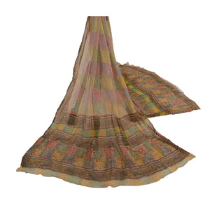 Sanskriti New Dupatta Long Stole Chiffon Silk Multi Color Shawl Printed Scarves