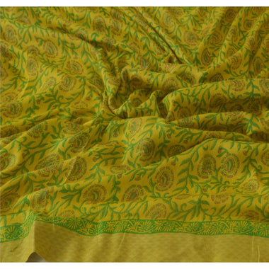 Dupatta Long Stole 100% Pure Woolen Green Printed Wrap Scarves
