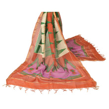 Load image into Gallery viewer, Sanskriti Vintage Dupatta Long Stole Chanderi Shawl Printed Wrap Floral Hijab