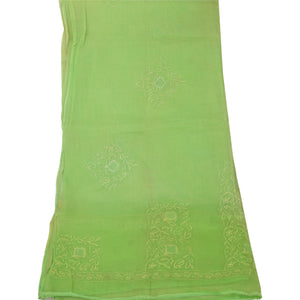 Dupatta Long Stole Cotton Green Embroidered Scarves Shawl Veil