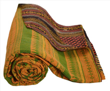 Load image into Gallery viewer, VINTAGE INDIAN GUDARI KANTHA COTTON FULL THROW BEDSPREAD HAND MADE GUDRI MULTI