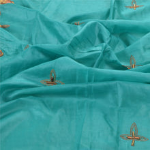 Load image into Gallery viewer, Sanskriti Vintage Indian Heavy Dupatta 100%  Pure Silk Green Hand Beaded Stole