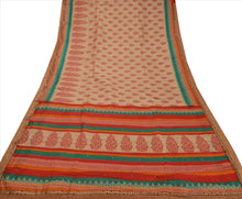 Load image into Gallery viewer, New Indian Saree Art Silk Woven Hand Beaded Craft Fabric Sari With Blouse Piece
