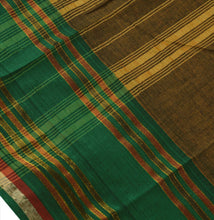 Load image into Gallery viewer, New Indian Saree Cotton Woven Green Craft Fabric Sari With Blouse Piece