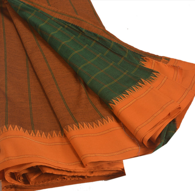 Sanskriti Indian Vintage Woven Saree Art Silk Fabric Home Craft Multi Color Sari