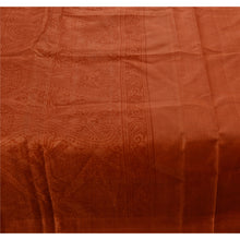 Load image into Gallery viewer, Sanskriti Vintage Indian 100% Pure Silk Saree Printed Orange Sari Craft Fabric