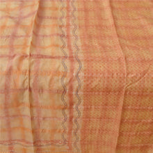 Load image into Gallery viewer, Sanskriti Vintage Beige Indian Sari Printed 100% Pure Silk Sarees Craft Fabric