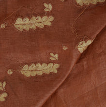 Load image into Gallery viewer, Vintage Indian Saree 100% Pure Silk Hand Beaded Craft Fabric Cultural Sari