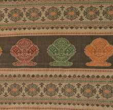 Load image into Gallery viewer, Sanskriti Vintage Indian Saree Art Silk Woven Brown Craft Fabric Cultural Sari
