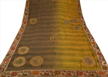Load image into Gallery viewer, Sanskriti Vintage Indian Saree Cotton Blend Hand Beaded Craft Fabric Ethnic Sari