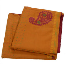Load image into Gallery viewer, Sanskriti Vintage Pink Indian Saree Cotton Blend Hand Embroidered Craft Fabric Sari