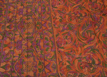 Load image into Gallery viewer, Antique Vintage Indian Saree 100% Pure Silk Hand Beaded Craft Fabric Sari