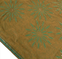 Load image into Gallery viewer, Sanskriti Vintage Indian Saree Embroidered Green Ethnic Craft Fabric Patch Sari