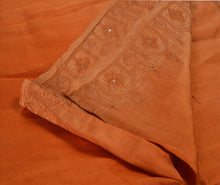 Load image into Gallery viewer, Antique Vintage Indian Saree 100% Pure Silk Hand Embroidered Craft Fabric Sari