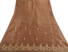Load image into Gallery viewer, Antique Vintage Indian Saree Tissue Hand Embroidery Woven Craft Fabric Sari