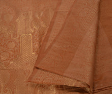 Load image into Gallery viewer, Sanskriti Antique Vintage Indian Saree Silk Blend Woven Peach Craft Fabric Sari