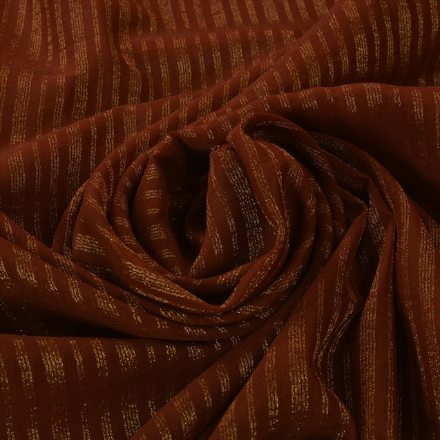 Antique Vintage Indian Saree Georgette Hand Embroidery Woven Craft Fabric Sari