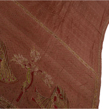 Load image into Gallery viewer, Vintage Indian Saree 100% Pure Silk Hand Beaded Fabric Cultural Sari Glass Beads