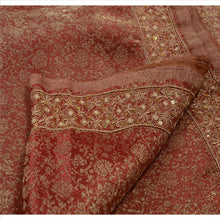 Load image into Gallery viewer, Antique Vintage Indian Saree Tissue Hand Embroidery Woven Fabric Sari Zardozi