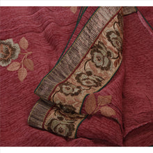 Load image into Gallery viewer, Sanskriti Vintage Indian Saree Georgette Embroidery Pink Craft Fabric Sari Floral