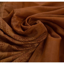 Load image into Gallery viewer, Sanskriti Vintage Indian Saree Cotton Blend Brown Woven Craft Fabric Sari