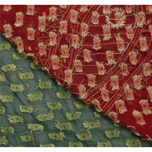 Load image into Gallery viewer, Sanskriti Vintage Saree 100% Pure Cotton Hand Embroidery Green Woven Fabric Sari