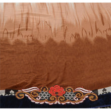 Load image into Gallery viewer, Sanskriti Vintage Indian Saree Georgette Embroidered Brown Craft Fabric Sari