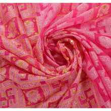Load image into Gallery viewer, Sanskriti Antique Vintage Pink Saree Art Silk Hand Embroidery Woven Fabric Sari