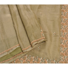 Load image into Gallery viewer, Sanskriti Antique Vintage Saree Tissue Hand Embroidery Fabric Premium Sari