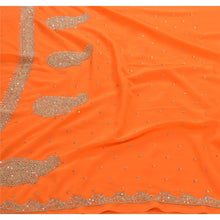 Load image into Gallery viewer, Sanskriti Vintage Indian Saree Georgette Hand Beaded Fabric Ethnic Premium Sari
