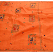 Load image into Gallery viewer, Antique Vintage Saree 100% Pure Silk Hand Embroidered Fabric Premium Sari