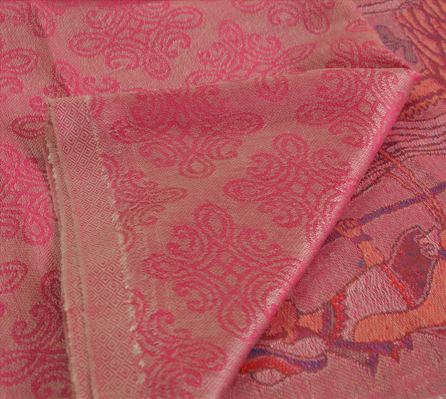 Sanskriti New Indian Woven Viscose Shawl Scarf Stole Warm Pink Bedouin Camel