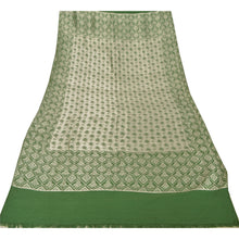 Load image into Gallery viewer, Sanskriti Green Woolen Hand Woven Reversible Shawl Long Stole Throw Scarf
