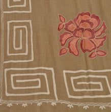 Load image into Gallery viewer, Multi Ari Zama New Hand Embroidered Kashmiri Shawl Scarf Viscose Stole Beige
