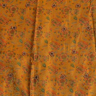 Vintage Indian Bollywood Women Long Skirt Hand Woven Brocade M Size Lehenga