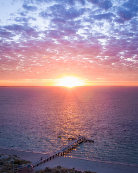 Sunset over the Coogee Beach Jetty