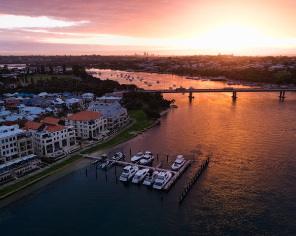 Sunrise at Swan River, Fremantle