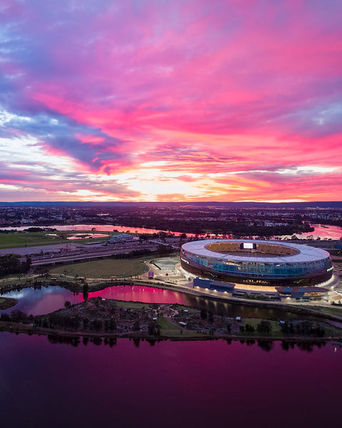 Beautiful Sunrise over Optus Stadium