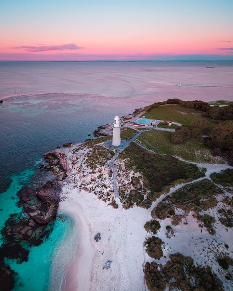 The Pinky Beach and the Bathurst Lighthouse
