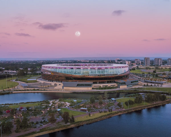 Full moon at Optus Stadium