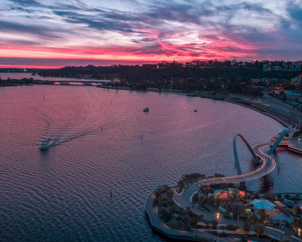 Sunset at Swan River, Kings Park, Elizabeth Quay